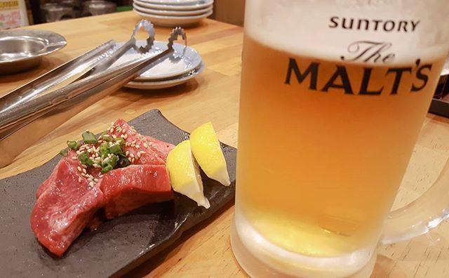 久しぶりの焼肉(*ฅ́˘ฅ̀*)♡ 私に何が出来るのか、  何から始めたらいいのか模索中( ´•ω•` )  #北九州 #小倉 #bbq #meat #yummy #肉 #焼肉 #ビール #お酒 #牛タン #グルメ #美味しいもの食べたい #kazusadays