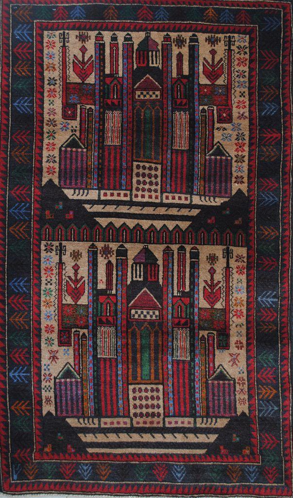Handmade Woolen Carpet BELUTCH 0,83 x 1,36 cm | ioakeimidis