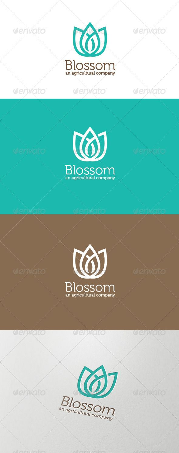 Blossom Agricultural Logo  #GraphicRiver         An Excellent logo for natural, agricultural company that represent growth, green, healthy & eco friendly that main objective of the company background.   Files contain 6 Layer logo in different colors, 4 Vector Files from basic into CS3, Font detil also provided inside.     Created: 16October13 GraphicsFilesIncluded: VectorEPS #AIIllustrator Layered: Yes MinimumAdobeCSVersion: CS Resolution: Resizable