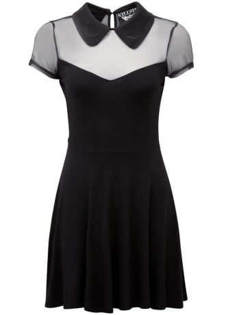 Pinterest: @MagicAndCats ☾ Killstar Dana Skater Dress | Attitude Clothing