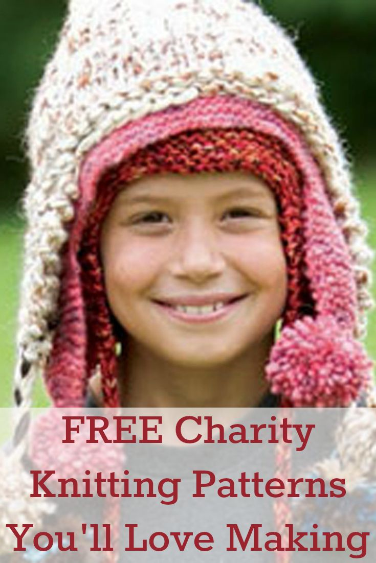 Don't miss these 5 FREE #charity #knittingpatterns so you can share your craft with others! #knitting #volunteer #charityknitting