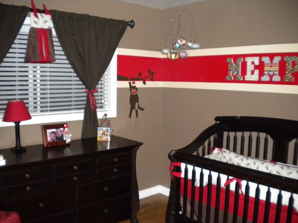 Sock Monkey Nursery - don't usually post baby stuff bit this is super cute