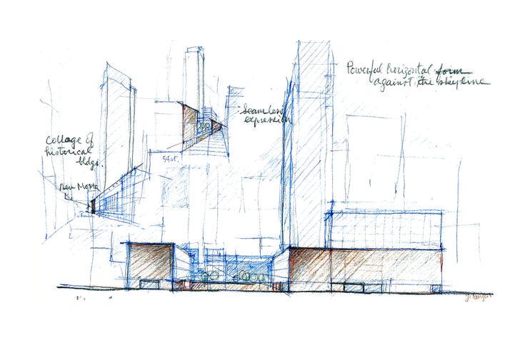 MoMA : Competition sketch | Image © Yoshio Taniguchi