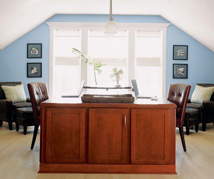 Aristokraft Winstead Office Cabinet Door Style. Maple Wood With Rogue Finish