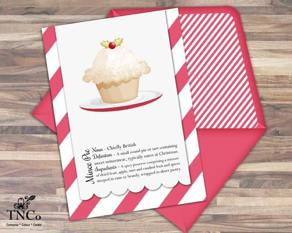 Christmas dessert clipart, word art instant download, christmas cake, festive mince pie clipart for scrabooking supplies. - pinned by pin4etsy.com