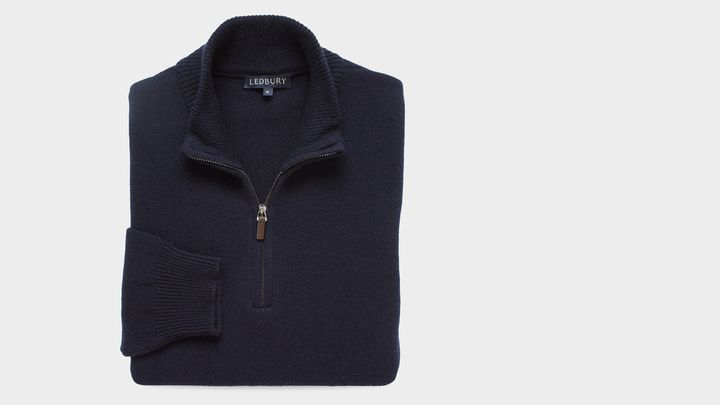 The Navy Ashton Half Zip