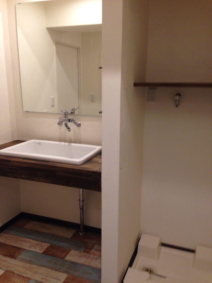 TOTO実験用シンク、SK7を使った造作洗面台 | 桑原陽子@OKUTA |リフォーム・マンションリフォームならLOHAS studio(ロハススタジオ)…