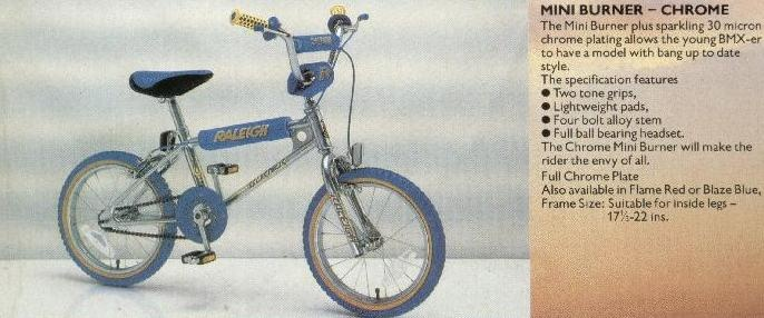 The 'Mini Burner' the smaller standard of retro BMX from Raleigh