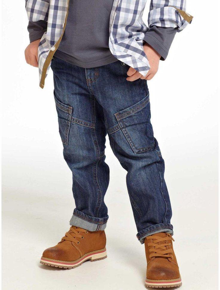 Vaqueros indestructibles niño - Cintura muy cómoda de canalé elástico - VERTBAUDET
