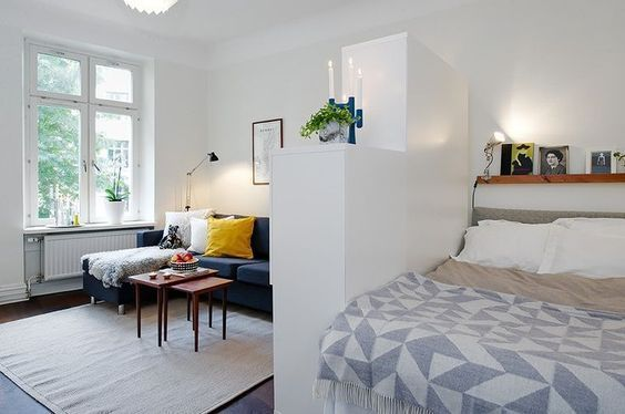When living in a small studio or apartment you need to get organized and have a splendid interior using little space. From storig ideas to multifunctional objects, here are seven tips on how you can