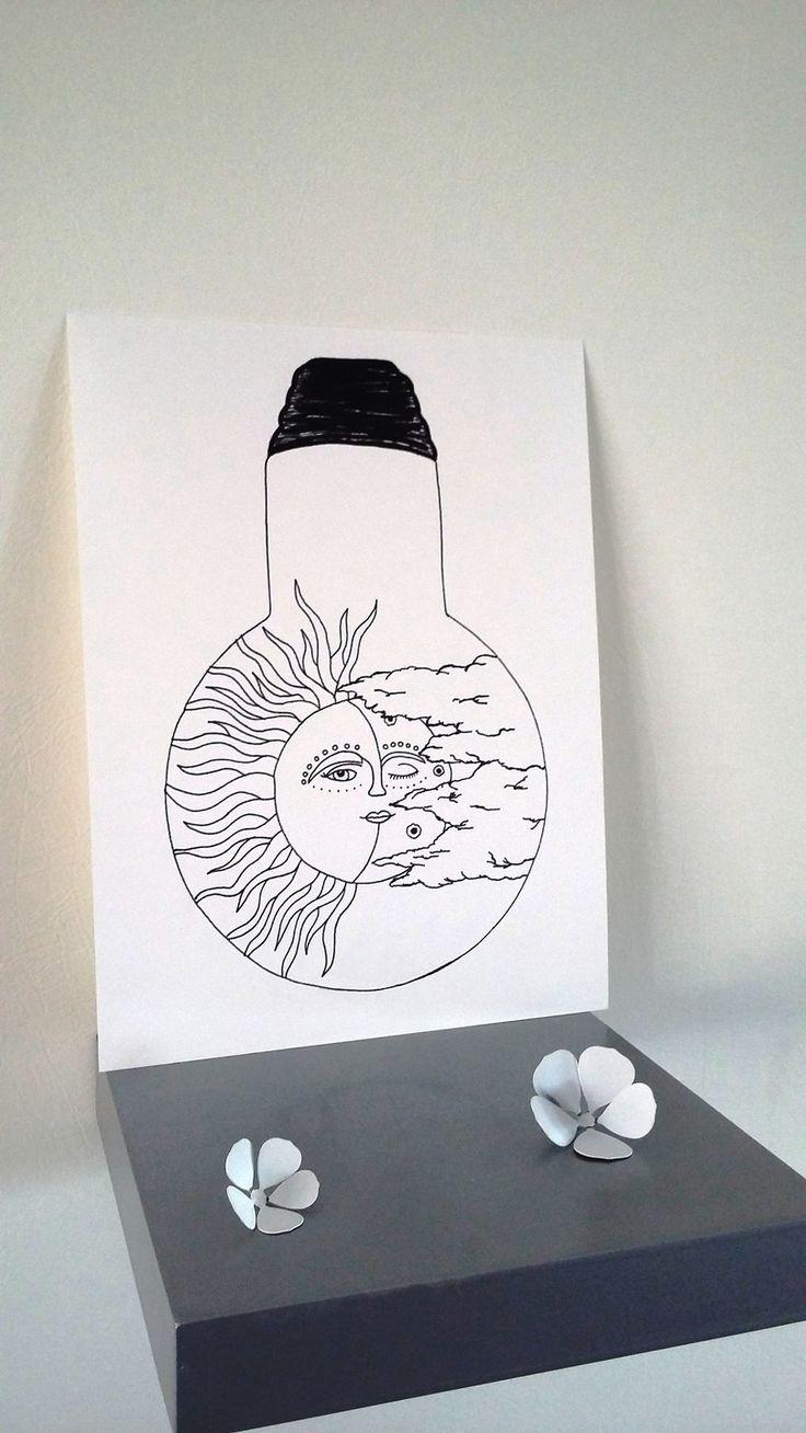 17 meilleures id es propos de soleil dessin sur pinterest glyphes dessin - Ecolier dans la lune ...
