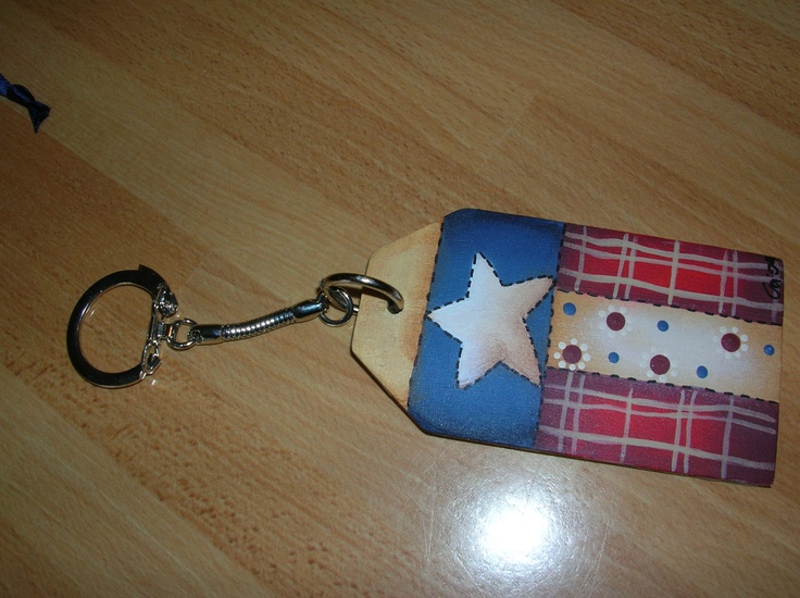 Country painting keychain