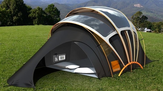 solar panel tent... I'd buy it