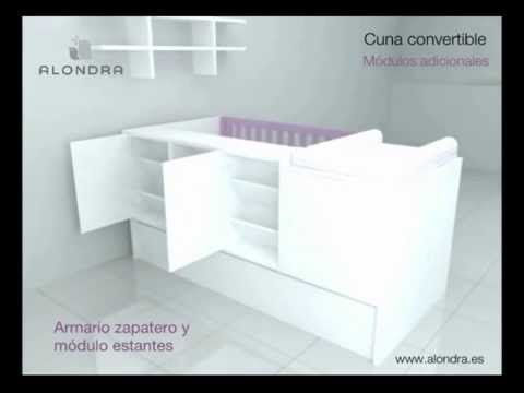 INNOVADORA CUNA CONVERTIBLE - ALONDRA (Refs. K401-K405-K406-K414) - YouTube