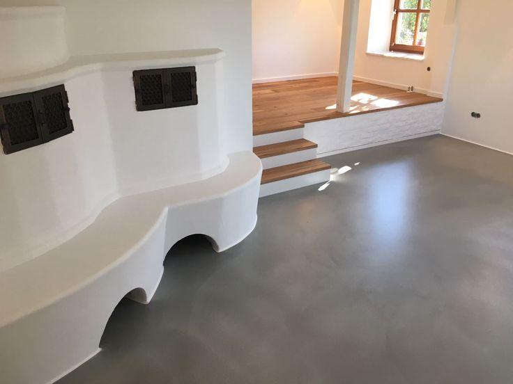 #beton #treppe #eiche #eiche geölt #bodenbeschichtung #D&W #holz #renovierung #leisten #weiß # ...