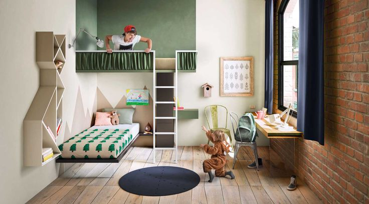 This suspended LAGO bed seems like a tree house and creates loads of extra space in children's rooms.
