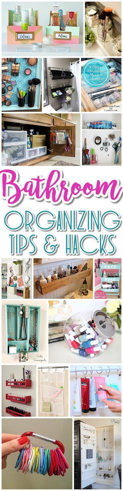 EASY Inexpensive Do it Yourself Ways to Organize and Decorate your Bathroom and Vanity {The BEST DIY Space Saving Projects and Organizing Ideas on a Budget}