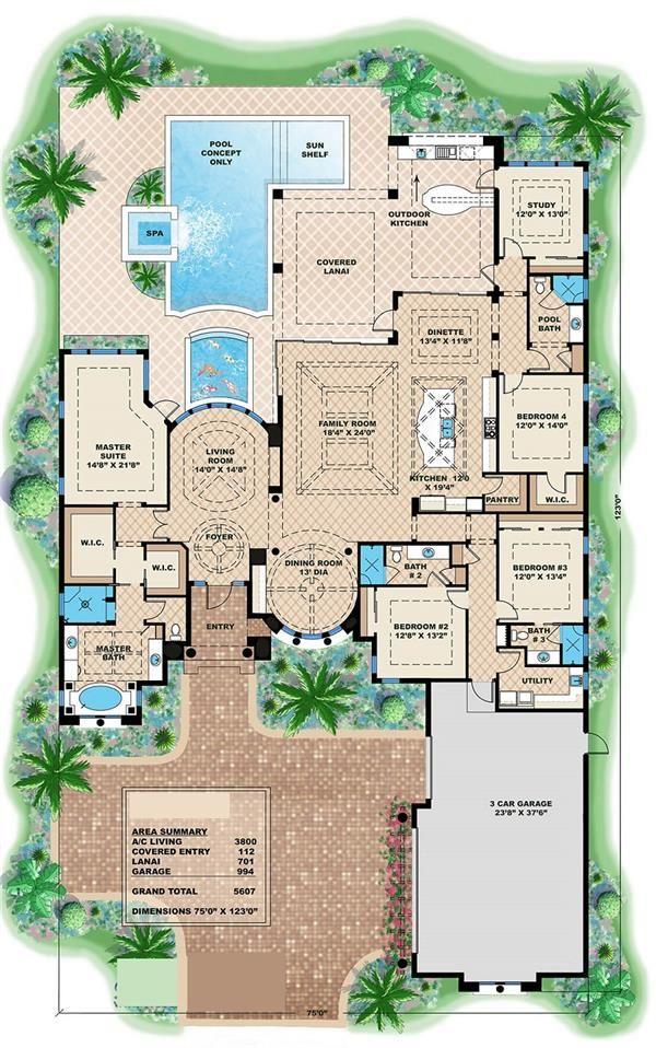 175-1086: Floor Plan Main Level - House Plan # 175-1086