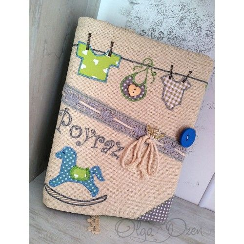 Memory book for new born.Unique design by Olga Ozen from Ukraine. Living at Sarigerme Mugla Turkey.