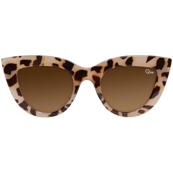 Kitti Quay Sunglasses ($30) found on Polyvore featuring accessories, eyewear, sunglasses, glasses, leopard, plastic lens glasses, retro sunglasses, cat eye sunglasses, plastic glasses and lens glasses