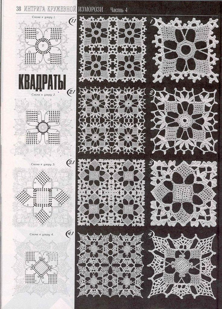 crochet lace granny square