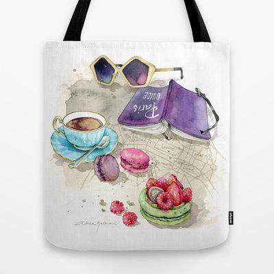 Tea time Tote Bag by Alicia Malesani - $22.00