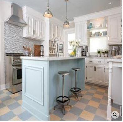 Sarah Richardson Kitchen ~ Would Change Out The Flooring.