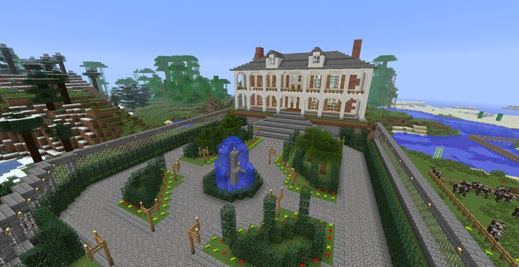 Minecraft Courtyard My Latest Project Over The Weekend