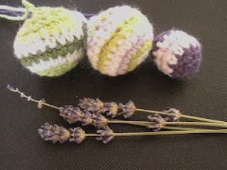 Lavender scented crocheted balls