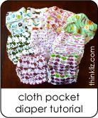 Make your own pocket baby diapers with this FREE and easy sewing pattern tutorial