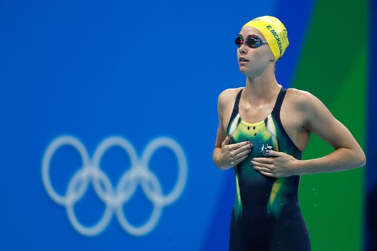 Emma McKeon of Australia prepares ahead of the second Semifinal of the Women's 100m Butterfly on Day 1 of the Rio 2016 Olympic Games at the Olympic Aquatics Stadium on August 6, 2016 in Rio de Janeiro, Brazil.