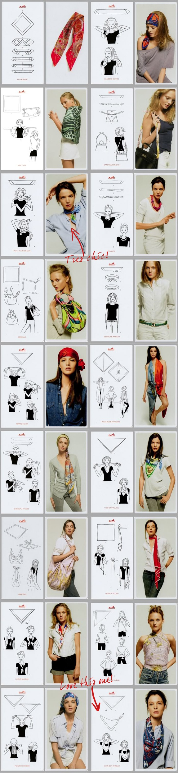 Tying a Hermes scarf. | Fashion Inspiration | Pinterest