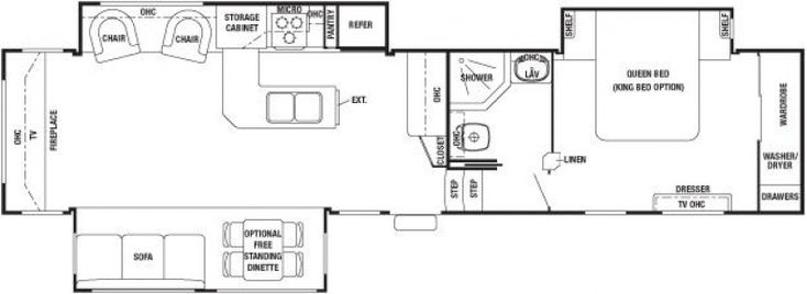 Cedar Creek Fifth Wheel Floor Plans
