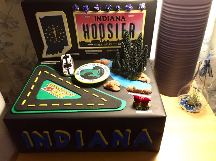 Indiana - shoebox state float project | School Projects ...