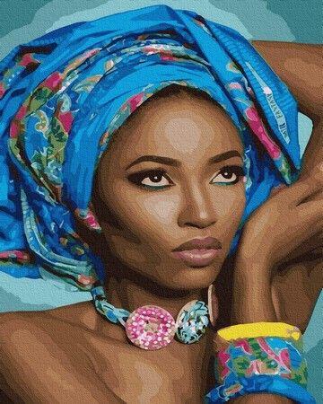Картина по номерам Синий платок ZX 23967 40x50 см. - цена ...