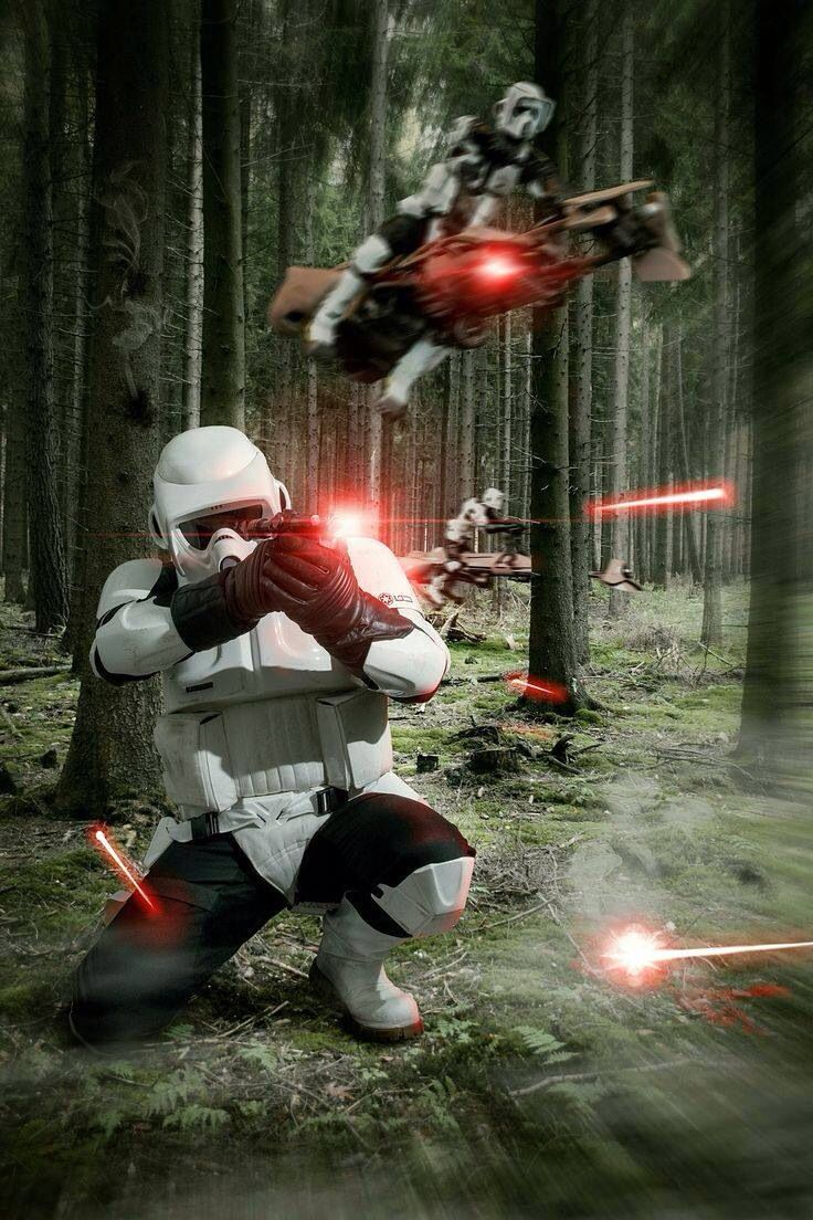 Scout Troopers battle of Endor ;-)~❤~