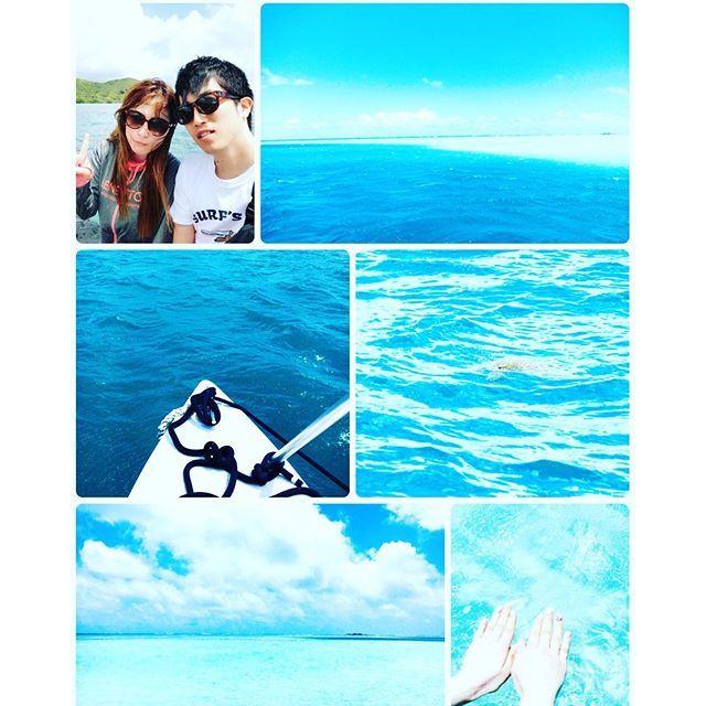 """【ハワイ___3日目】朝から船に乗って、ラニカイビーチの""""ミルキーブルー(別名:天国の海)""""…"""