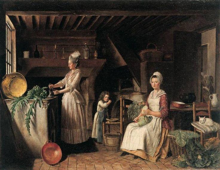 Antoine raspal int rieur de cuisine proven ale vers 1776 80 1700 1800 working classes - 17th century french cuisine ...