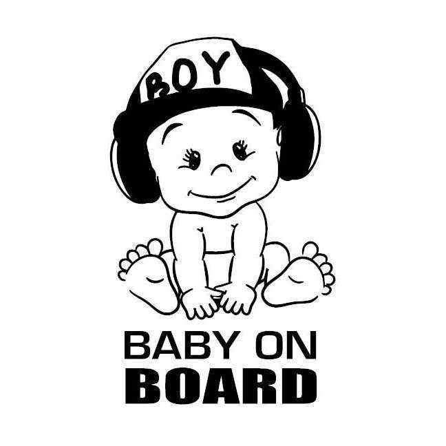 Grand Enfants à bord warning signal de Sécurité Sticker Autocollant Vinyle pour Voiture Windows