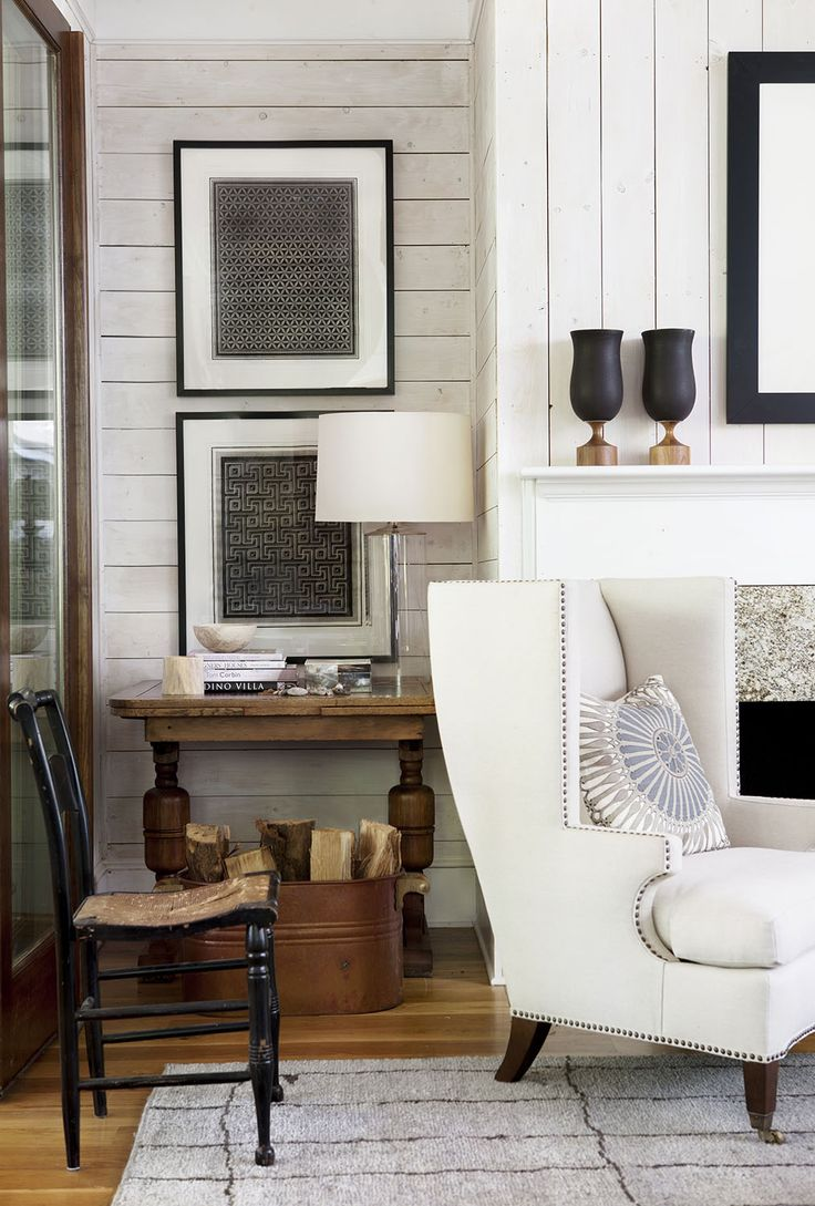 Neutral Living Room | #NeutralLivingRoom | Robert Brown Interior Design | #WoodPanelling | #ElegantInteriorDesign
