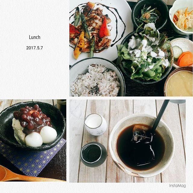 5/7(日)_GW最終日は地元の93(くみ)さん #帰るのだるい#めんどい#どこでもドア欲しい🚪 #瞬間移動したい #ランチ#93 #和カフェ #白玉#アイス#coffee#肉#野菜#おいしい#味噌汁#大好物#foodstagram #ukiログ #instagram #instagood#yummy#happy#love #like4like #GW#followme