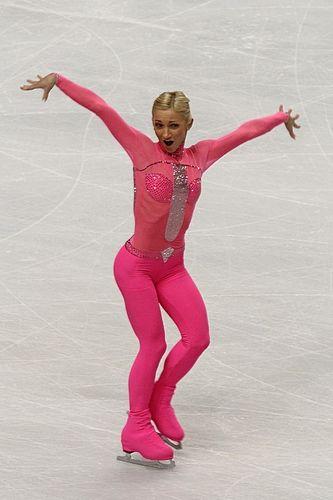 Aliona Savchenko , German-Ukrainian pair skater. who can forget her pink panther?!