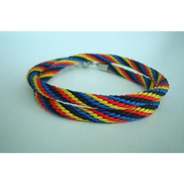 Bright bracelet Colorful bracelet Rope bracelet Braided bracelet... ($14) ❤ liked on Polyvore featuring jewelry, bracelets, cord bracelet, woven cord bracelet, bohemian jewelry, magnetic jewelry and braided bracelet
