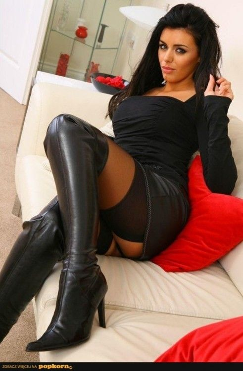 Rather sexy girls leather boot porn