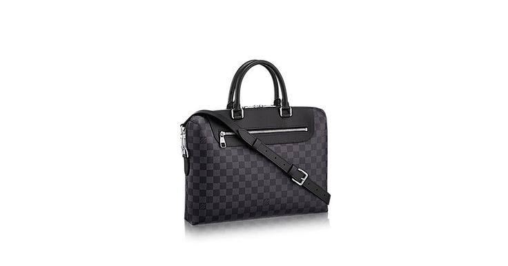 Porte-Documents Jour Toile Damier Graphite - Sacs homme | LOUIS VUITTON