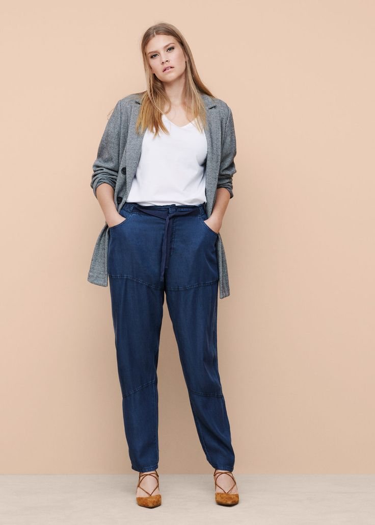 Jeans baggy soft - Jeans Taglie grandi | Violeta by MANGO Italia