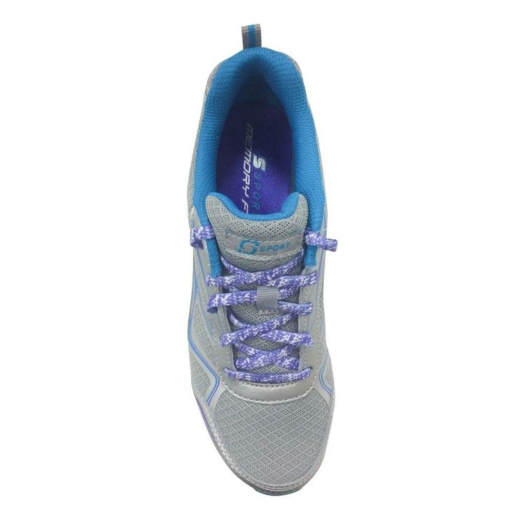 Women's S Sport By Skechers All Clear Performance Athletic Shoes - Silver 7