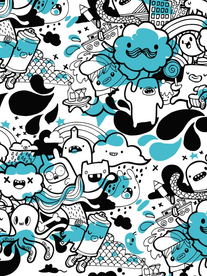 Doodle Art Character Design : Bobsmade doodle characters
