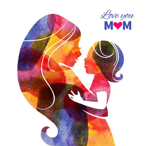 Creative mothers day art background vector 03