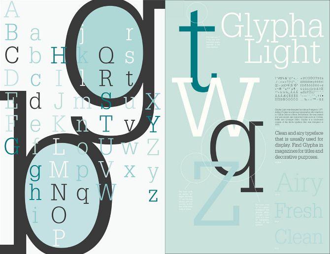 Type Specimen Sheet - mh designs * http://mhdesigns.us/Type-Specimen-Sheet * Glypha Light * Melani Mencarelli